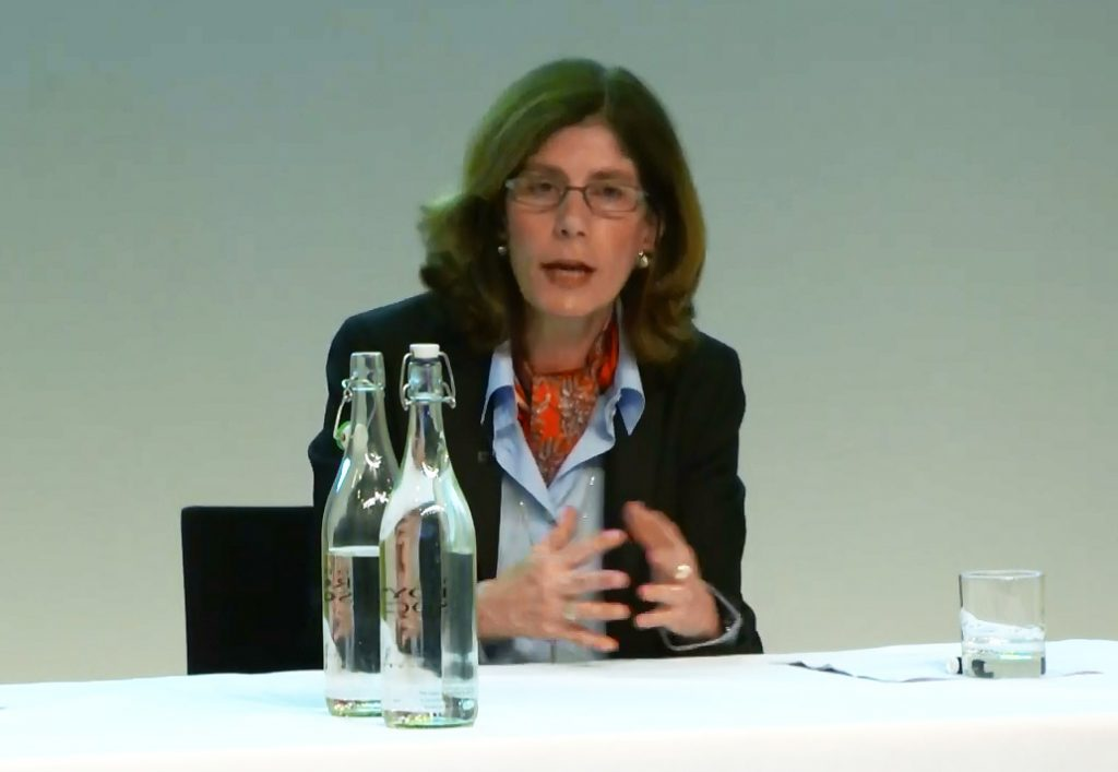 Penny Goldberg at the annual IFS lecture