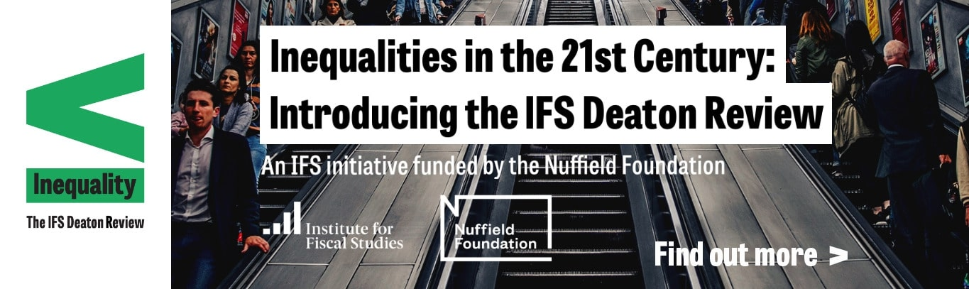 IFS Inequality Deaton review banner